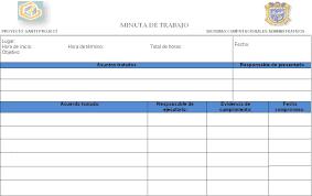 Formato De Minuta En Excel Formato Minutas Magdalene Project Org