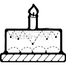 birthday candle clip art black and white. Wonderful White Black And White Birthday Cake With One Candle For Birthday Candle Clip Art Black And White A
