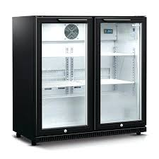 2 door mini refrigerators black double door refrigerator husky double glass door bar fridge in black