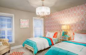 using color the head of the bed tends to be a bedroom s inhe feature wall so using color to make the accent wall obvious is a fun idea