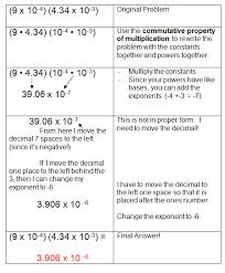 Scientific Notation and Monomialsscientific notation practice