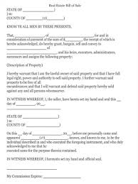 Free Downloadable Bill Of Sale 5 Real Estate Bill Of Sale Forms Free Sample Example Format Download