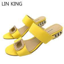 <b>LIN KING Big Size</b> Sexy Women Pumps Ankle Strap Ladies High ...