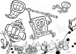 Coloring Pages Spongebob Christmas Online Easter Revealing Sponge