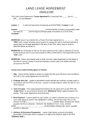 Booth rental agreement 1 document. Download Free Land Lease Agreement Printable Lease Agreement