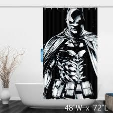 batman dc comics shower curtain balck white