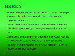 green meaning 3 ...