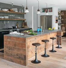 Kitchen: Industrial Rustic Kitchen With Wood Accents - Rural Kitchen