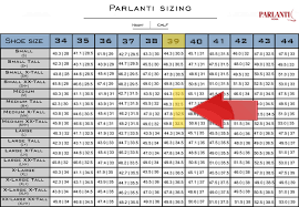 Boot Wide Size Chart Parlanti Passion Sizing Guide Official Parlanti Shop