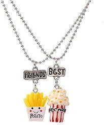 images gallery sunshine 2pcs best friends fast food pendants chain necklace