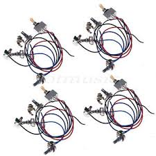 cheap gibson guitar wiring gibson guitar wiring deals on get quotations · 4pcs wiring harness 2v 2t 3way switch jack 4 500k pots for gibson