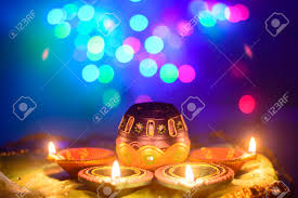 Indian Festival Decoration Indian Festival Diwali Oil Lamp Decoration Stock Photo Picture
