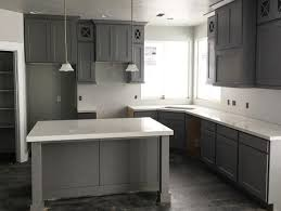Dark Stain Kitchen Cabinets Dark Grey Stain Kitchen Cabinets With White Countertops And Grey