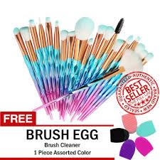 unicorn makeup brush set 20 mint green free brush egg brush cleaner