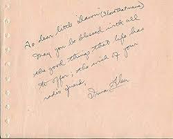 Vintage Photo Album Page Irma Glen Signed Note On 4 75x6 Vintage Album Page Nbc