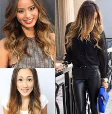 hair color for spring 2015. 2014 spring celebrity sombre hair colors: black on top - color for 2015