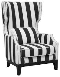 fancy black white armchair with striped armchairs and accent chairs houzz