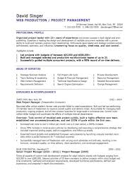 Project Manager Resume Templates Saneme
