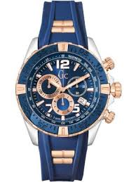 gc watches view the creative watch co range gc men s sportracer designer watch on blue rubber strap