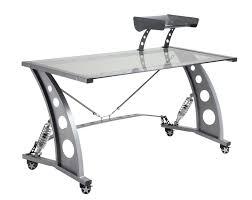 clear office desk. Pitstop GT Office Desk - Silver Clear E