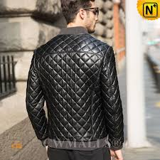 CWMALLS® Quilted Leather Jacket for Men CW806012 & Leather Jacket for Men CW806012 www.cwmalls.com Adamdwight.com