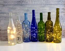Wine Bottle Decor, Lights Inside Wine Bottle, battery operated lights,  fairy lights inside