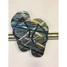 large metal flip flop wall art