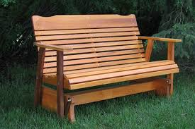 cedar glider bench for outdoor from kilmer creek