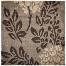 palm leaf area rugs new safavieh laa brown 7 ft x 7 ft square area