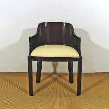 Art deco office chair Wooden Fins De Siecles Art Deco Desk Armchairs