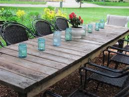 diy outdoor farmhouse table. Outdoor Garden Weathered Long Rectangular Farmhouse Table Diy