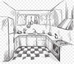 Kitchen Drawing Interior Design Services Sketch Handpainted Extraordinary Drawing Interior Design