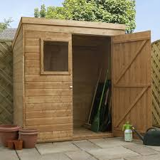 image to enlarge 6 x 4 waltons tongue and groove pent wooden shed