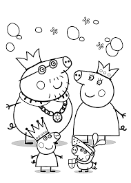Peppa Pig Coloring Pages For Kids Printable Free Colouring Pages