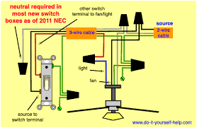 hardwired ceiling fan and light switch loop diagram