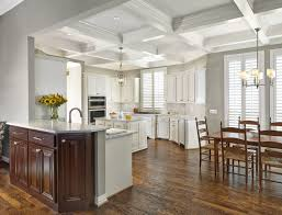 Remodeled Coppell Kitchen Design Features Coffered Ceilings Ceiling Designs  For Modern Homes