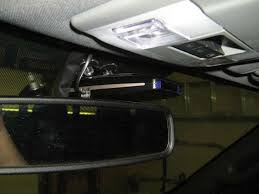 radar detector wiring installation radar detector mounted above rearview mirror