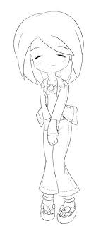 Cute Coloring Pages Printable Sheets Anime Chibi Girl Truyendichinfo