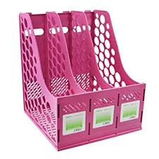 Pink Magazine Holder Amazon Clobeau Heavy Duty Four Sections File Rack Paper 45