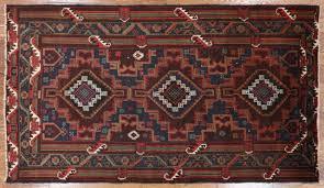 tribal balouch oriental persian handmade area rug 4 x 7 w2443