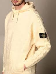 STONE ISLAND: Pullover herren | Sweatshirt Stone Island Herren Butter |  Sweatshirt Stone Island 503A1 Giglio DE