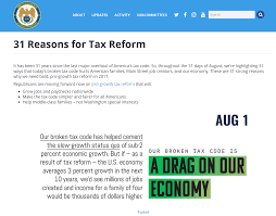 31 Reasons Why We Need Tax Reform | Speaker.gov