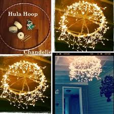 Outdoor lighting ideas diy Christmas Decorations Diy Hoop Chandelier Ideastand 30 Cheap And Easy Diy Lighting Ideas For Outdoor 2017