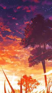anime wallpaper iphone 6 plus. Beautiful Wallpaper Anime Sunset Scenery For Wallpaper Iphone 6 Plus