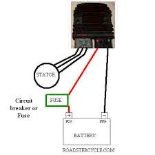 net view topic how to upgrade the oem regulator the 3 phase ac wires that are on the oem stator are the x3 white wires that go to a x3 pin black oem connector simply cut off the connector and