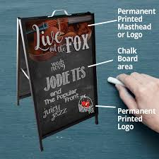 Chalkboard Menu Board A Frame Easy Signs Chalkboards Black Boards