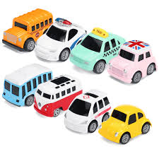 Pull Back Motor Design Nordic Traffic Parking Scene Map Pull Back Mini Toy Car Model Educational Children Cartoon Toys Gifts