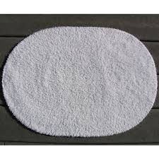 faze 3 reversible cotton oval bath rug 21x34 white 12 per case per each