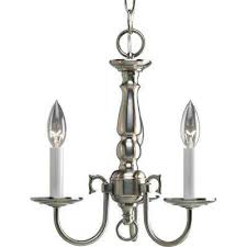 americana collection 3 light brushed nickel chandelier