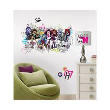 monster high group l and stick giant wall decals